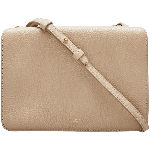 Oroton Byron Crossbody in Fawn and Pebble Leather for female