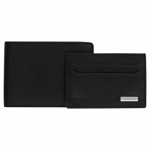 Oroton Otto 8 Credit Card Wallet And Credit Card Sleeve in Black and Vegan Leather for male