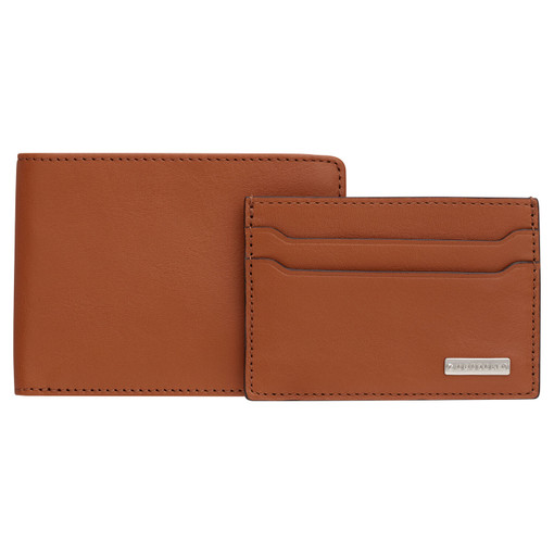 Oroton Otto 8 Credit Card Wallet And Credit Card Sleeve in Caramel and Vegan Leather for male
