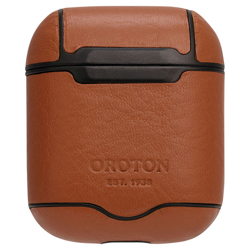 Oroton Otto AirPod Cover in Caramel and Vegan Leather for male