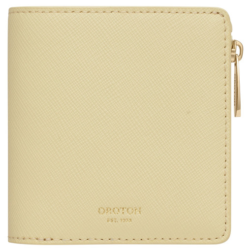 Oroton Harriet Mini Wallet in Maize and Saffiano Leather for female