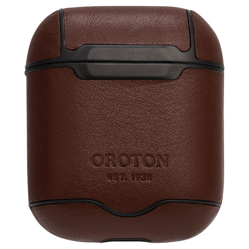 Oroton Otto AirPod Cover in Chocolate and Vegan Leather for male