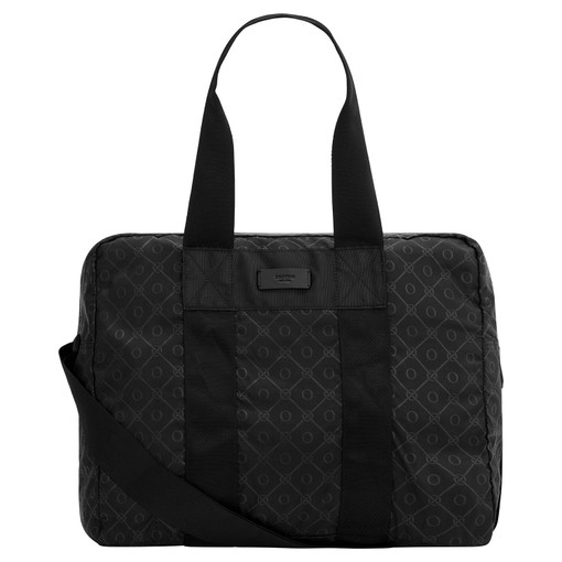Oroton Sasha Packable Weekender in Black and Printed Nylon for male