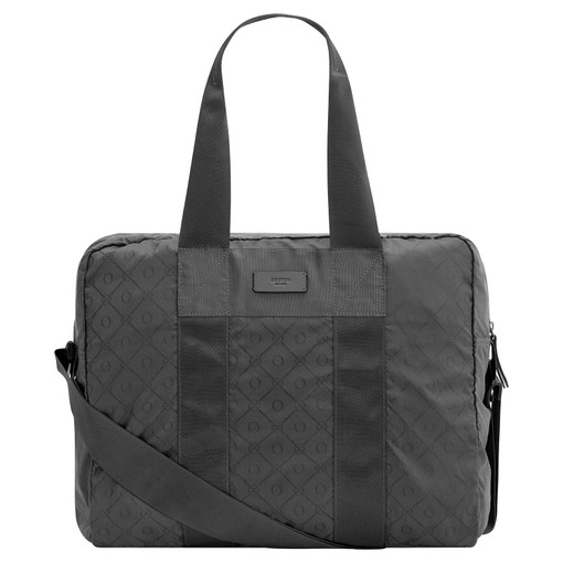 Oroton Sasha Packable Weekender in Slate Grey and Printed Nylon for male