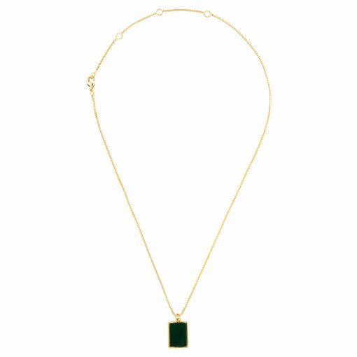 Oroton Brea Necklace in Gold/Green and Brass Base Metal With Precious Metal Plating/Semi Precious Stone for female