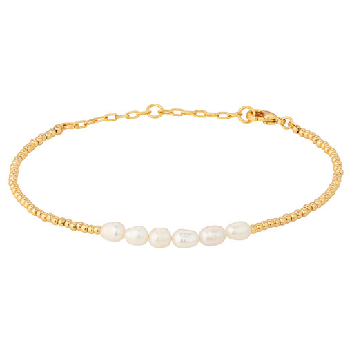 Oroton Corine Bracelet in Gold and Brass Base Metal With Precious Metal Plating/Pearl for female