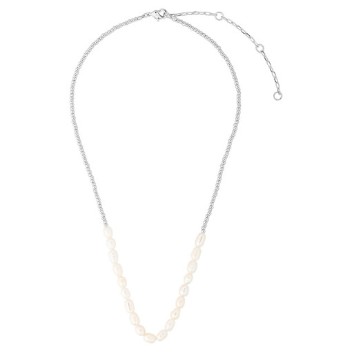 Oroton Corine Necklace in Silver and Brass Base Metal With Precious Metal Plating/Pearl for female