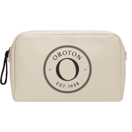 Oroton Kaia Large Beauty Case in Natural and Coated Canvas for female
