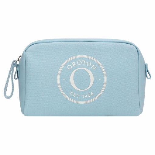 Oroton Kaia Small Beauty Case in Sky and Coated Canvas for female