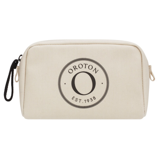 Oroton Kaia Small Beauty Case in Natural and Coated Canvas for female