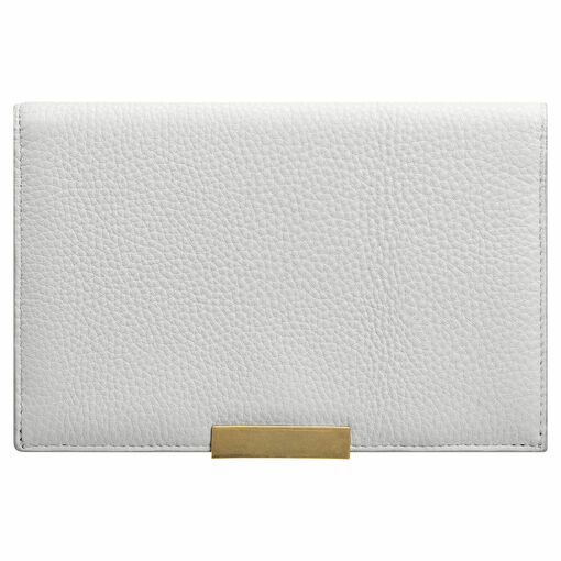 Oroton Voyage Large Clutch Wallet in Cloud Grey and Pebble Leather for female