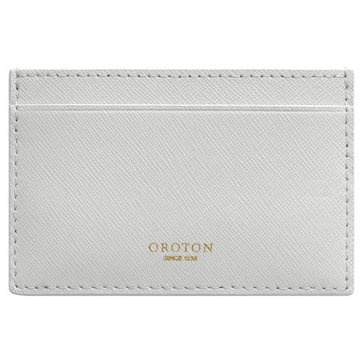 Oroton Liberty 3 Credit Card Sleeve in Cloud Grey and Saffiano for female