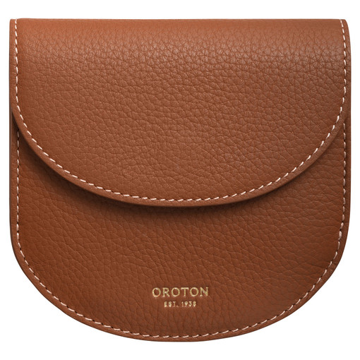 Oroton Margot Crescent Wallet in Whiskey and Pebble Leather for female