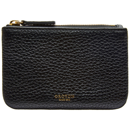 Oroton Avalon Mini Pouch in Black and Pebble Leather for female