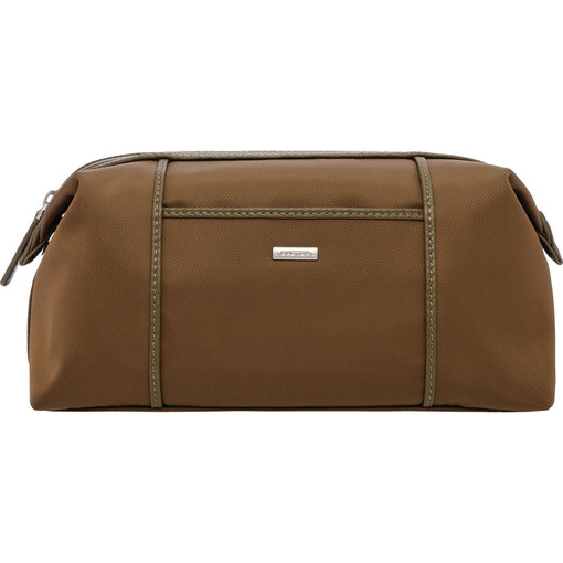 Oroton Finn Nylon Wetpack in Khaki and Nylon and pebble grain leather for male