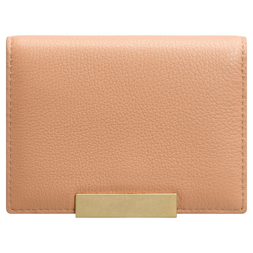 Oroton Voyage Mini Clutch Wallet in Caramel and Pebble Leather for female