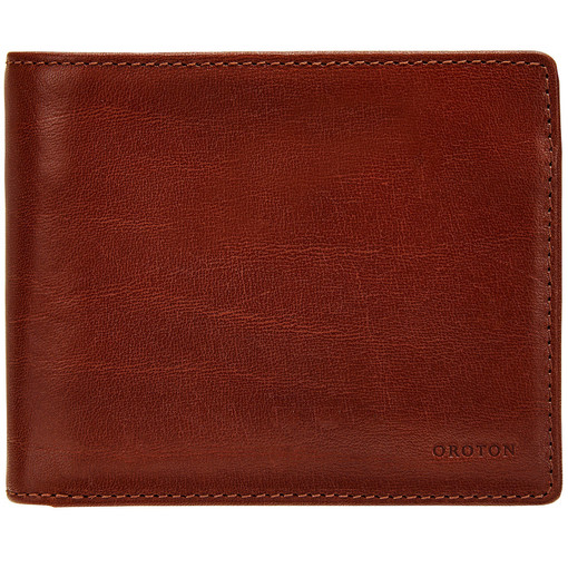 Oroton Katoomba 12 Credit Card Wallet in Whiskey and Vegetable Tanned Leather for male