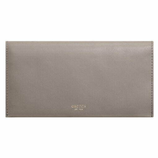 Oroton Venture Soft Fold Wallet in Stone and Smooth Leather for female