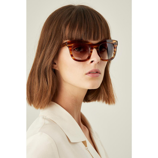 Oroton Isabelle Sunglasses in Oak/Khaki and Protection: 2 for female