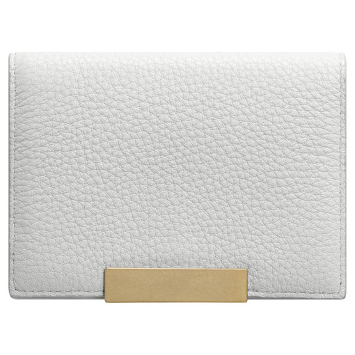 Oroton Voyage Mini Clutch Wallet in Cloud Grey and Pebble Leather for female