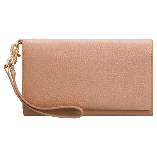 Oroton Avalon Clutch Wallet And Pouch in Biscuit and Pebble Leather for female