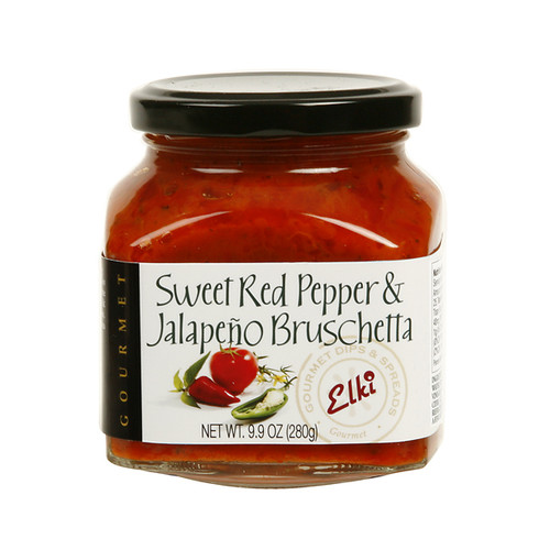 A sweet and piquant blend with a little kick, including sun ripened sweet red peppers, jalapenos and spices. Bon Appetite! Suggested Uses:  Enjoy on a toasted baguette or ELKI cracker; mix with feta cheese, fresh basil and scoop onto crostini or stuff inside grilled chicken. Use as a pizza topping, toss with hot or cold pasta dishes, or as a Panini or wrap spread.