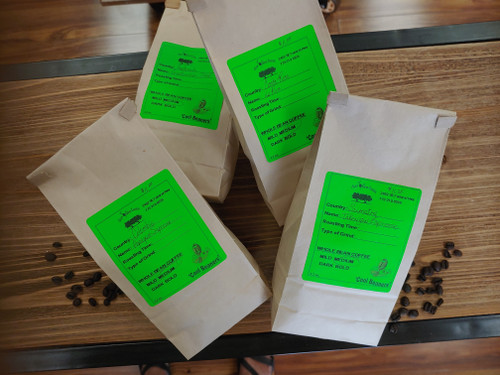 Takengon Sumatra Espresso coffee is roasted locally to a medium roast which are the specifications of Two Olive Trees.