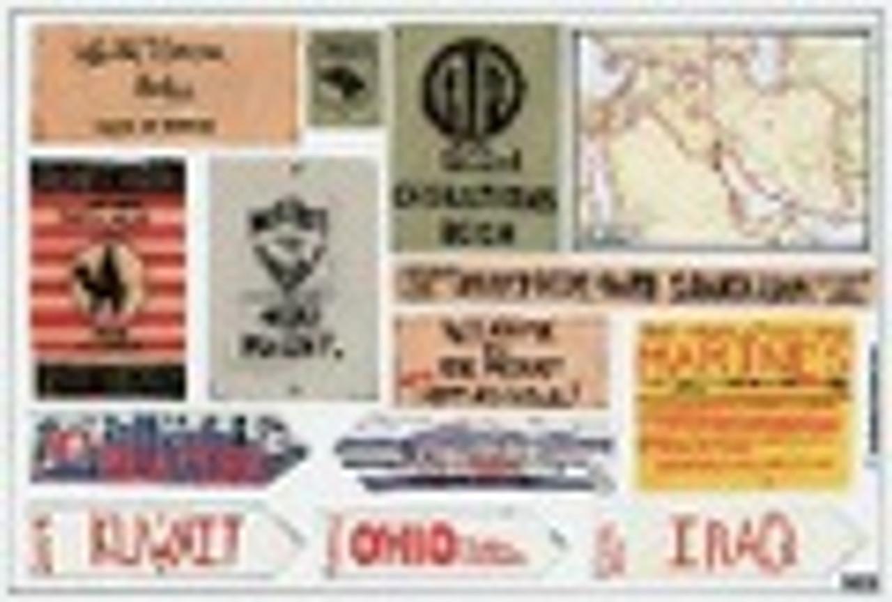 1/35 Printed Materials Stencils