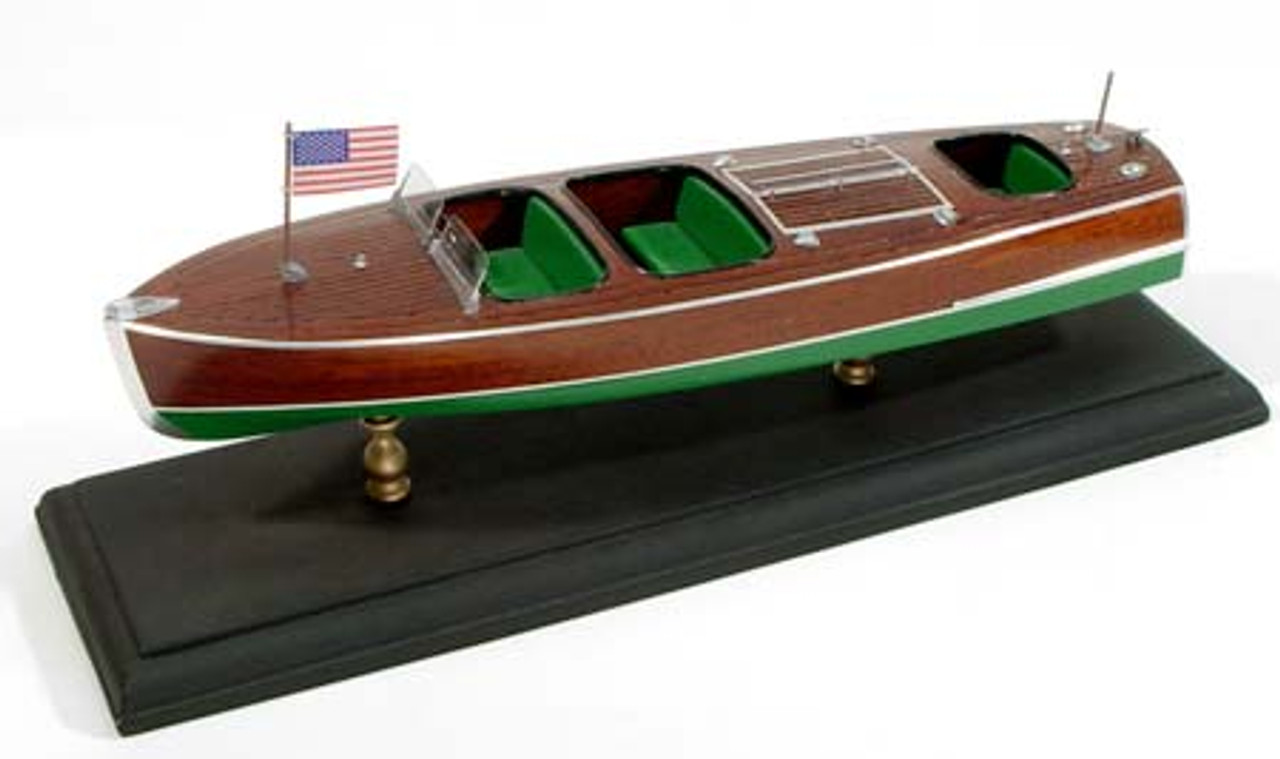 Chris Craft Triple Cockpit Barrelback Wooden Boat Kit Dumas
