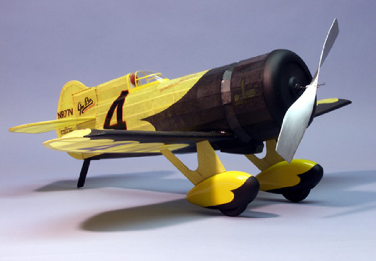 Dumas Gee Bee R1 Racer Rubber PWD Wooden Model Airplane