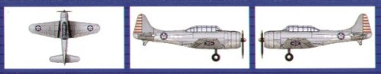 18//Bx 1//700 Trumpeter TBF Avenger Aircraft Set for USS Essex