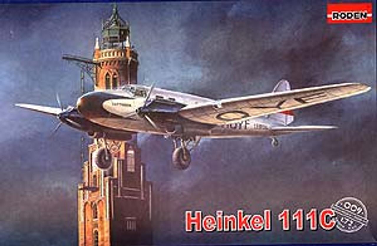 He-111E German Bomber model kit   1//72  RODEN  # 027