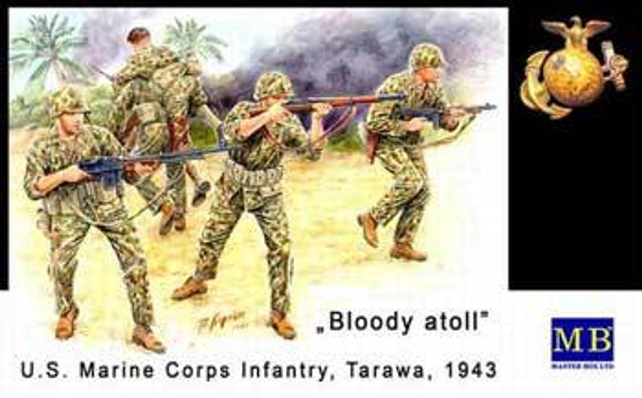 US Marine Corps Infantry Tarawa Nov  1943 1/35 Master Box
