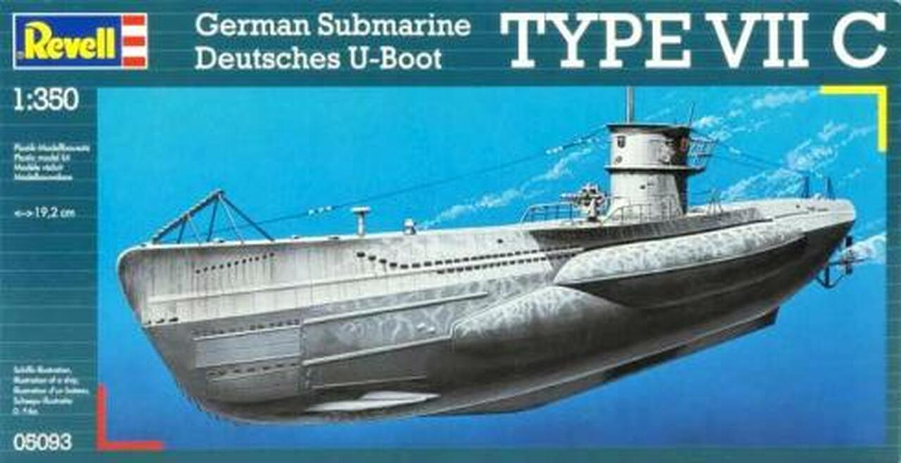 U-Boat Type VIIC Submarine 1/350 Revell Germany