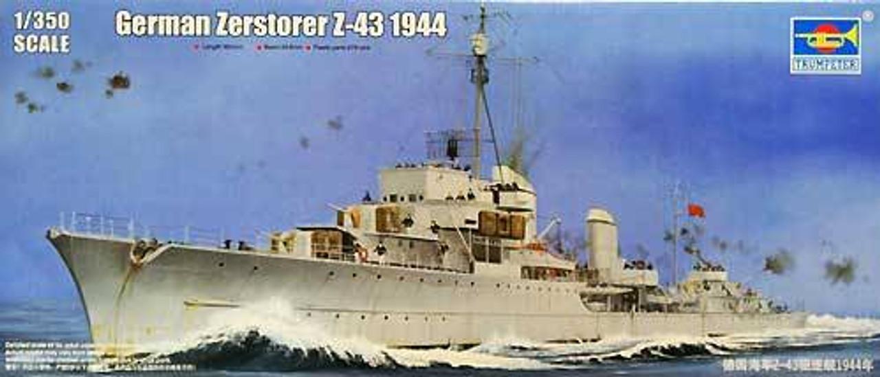 1944 Trumpeter 1//350 Scale German Zerstorer Z43 Destroyer