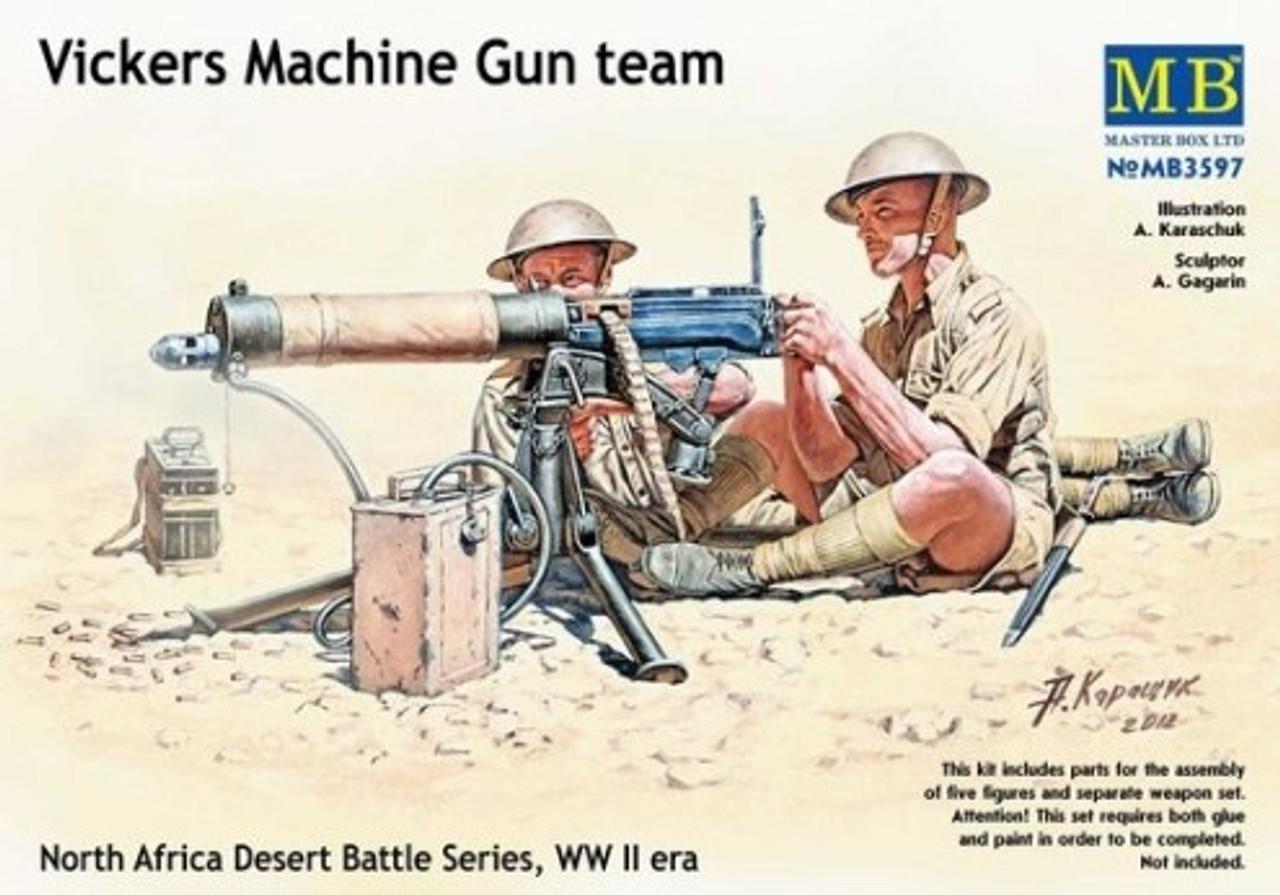 WWII Vickers Machine Gun & Crew 1/35 Master Box