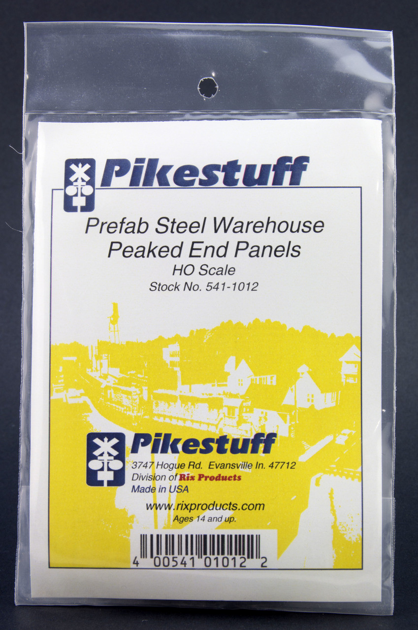 HO Scale Prefab Steel Warehouse End Wall Panels Pikestuff 1012