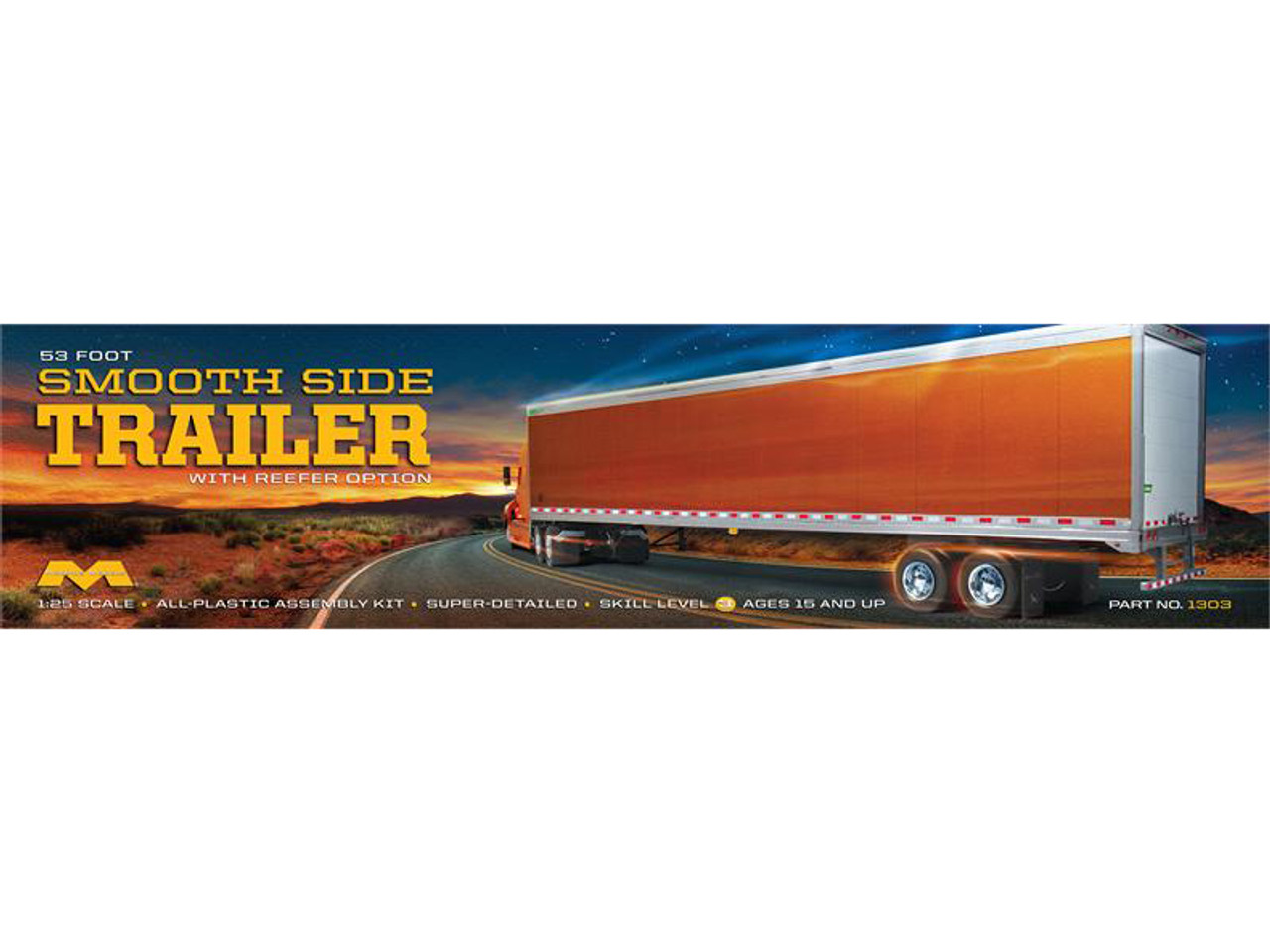 53' Smoothside Trailer 1/25 Moebius