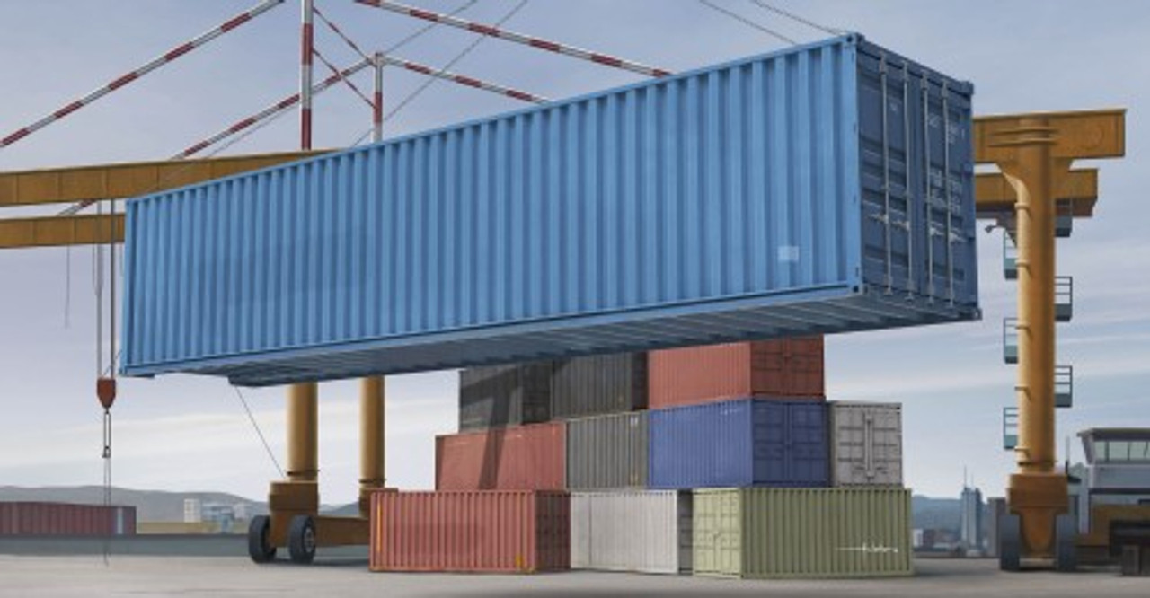 40ft Shipping Container >> 40ft Shipping Storage Container 1 35 Trumpeter