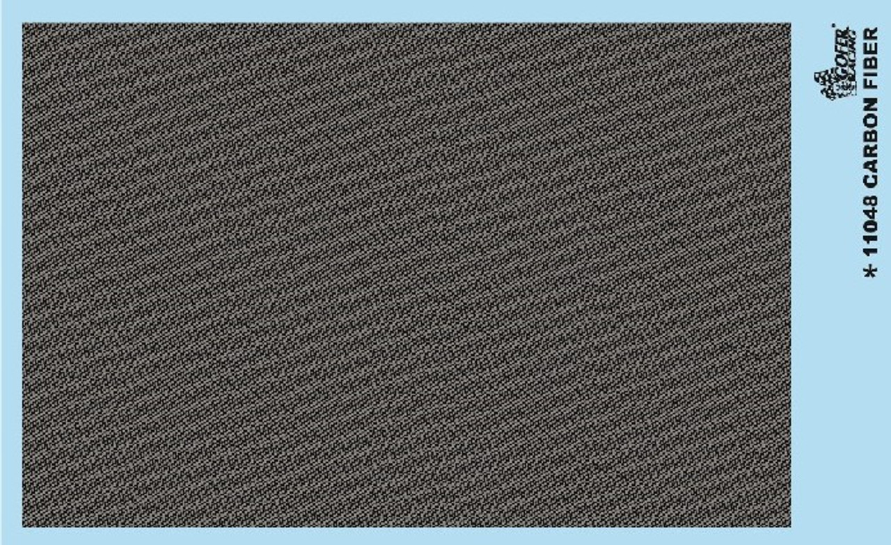 GOFER RACING CARBON FIBER DECAL SHEET FOR 1:24 AND 1:25 SCALE MODEL CARS
