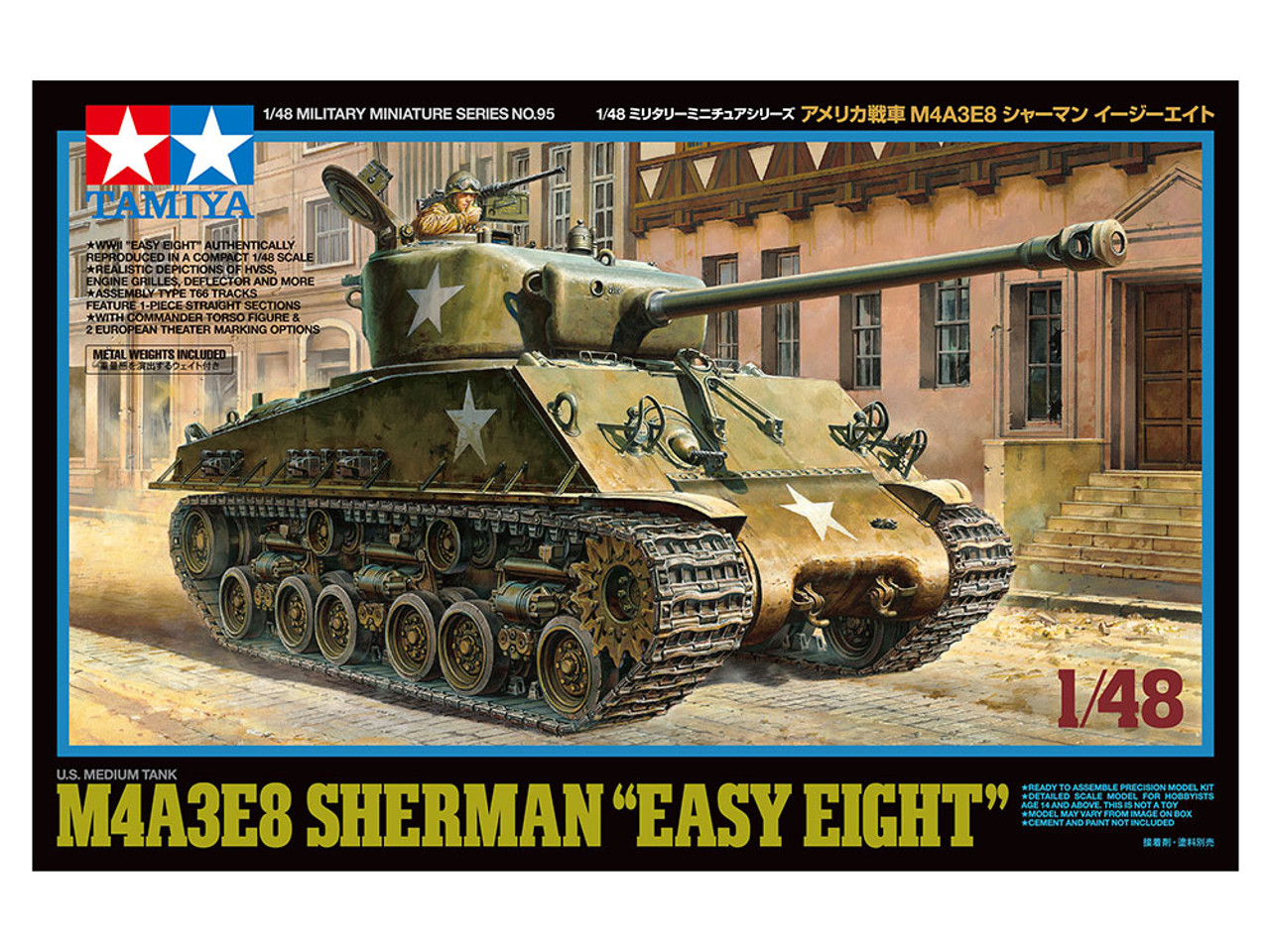 US M4A3E8 Sherman Easy Eight Medium Tank 1/48 Tamiya