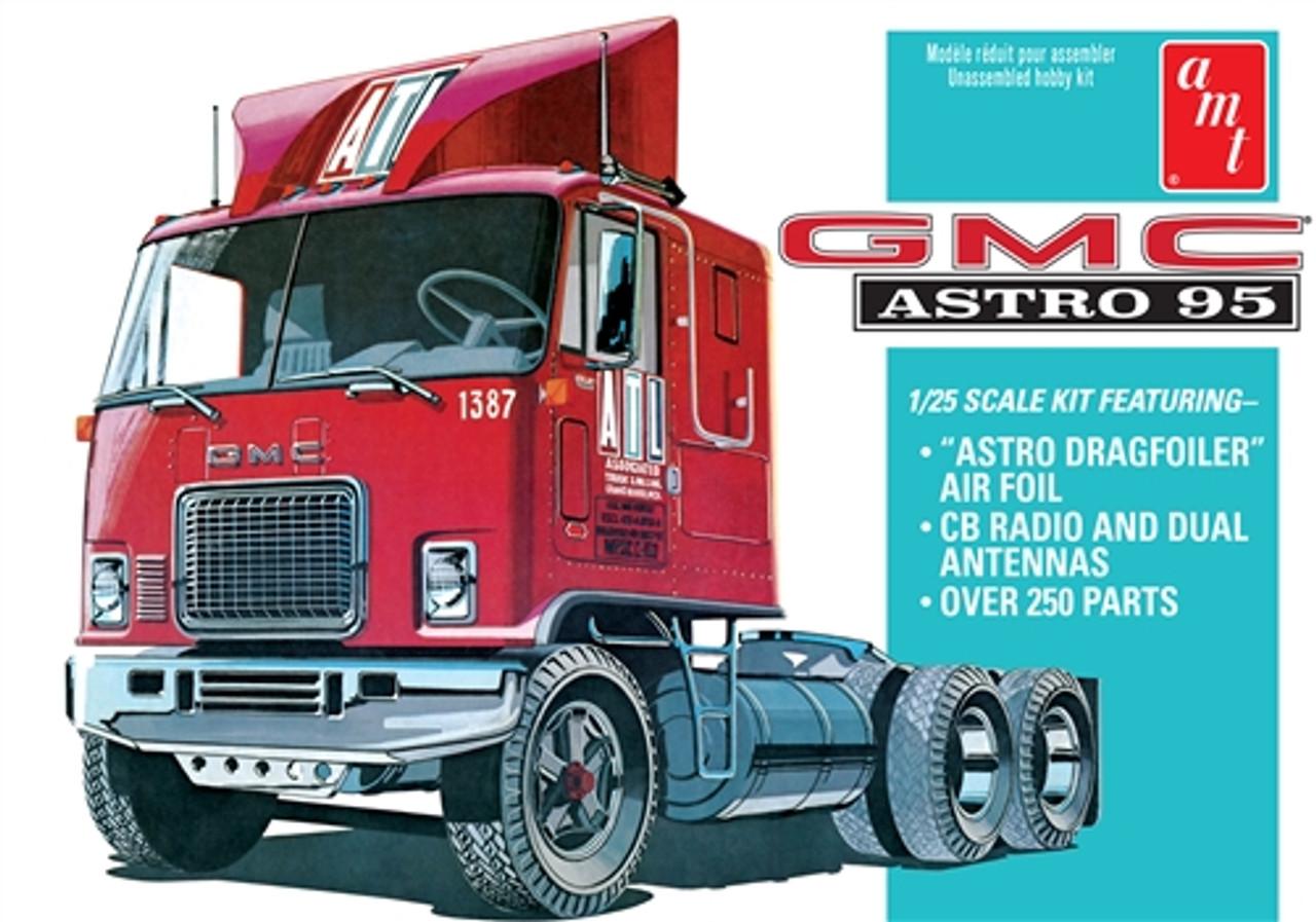 GMC Astro 95 Semi Tractor Cab 1/25 AMT Models