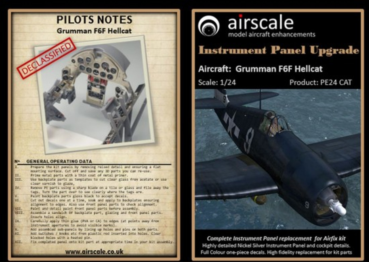 F6F Hellcat Instrument Panel Upgrade (Photo-Etch & Decal