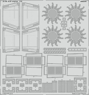 M4 Tractor Engine /& Mesh for HBO EDU36070 EDUARD MODELS 1//35 Armor