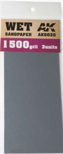 3 Units # 9038 AK Interactive Dry Sandpaper 400 Grit