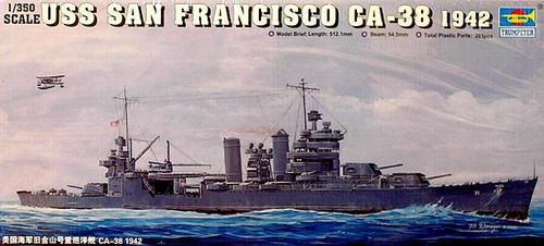 1//700 Trumpeter USS San Francisco CA-38 Heavy Cruiser 1944