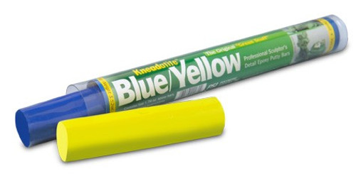 Kneadatite Green Stuff Blue/Yellow Two-Part Epoxy Putty Bars 3 52oz