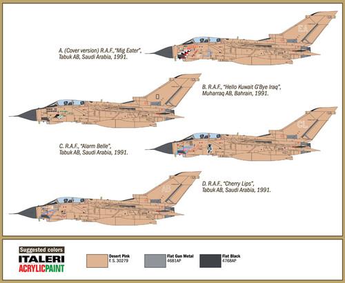 Tornado Gr.1 R.A.F 1991 Gulf War Fighter Plastic Kit 1:72 Model ITALERI