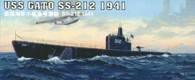 Doyusha USS Gato SS-212 1941 Submarine 1//700 Scale Model Kit # WSC-800-12
