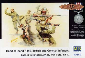 Grey Masterbox 1:35 Scale Hand to Hand Fight//German and British Infantrymen//WWI Construction Kit